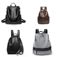 Wholesale Fashion high-capacity pu female bag portable Women's backpack Multifunction Travel Bags Girl