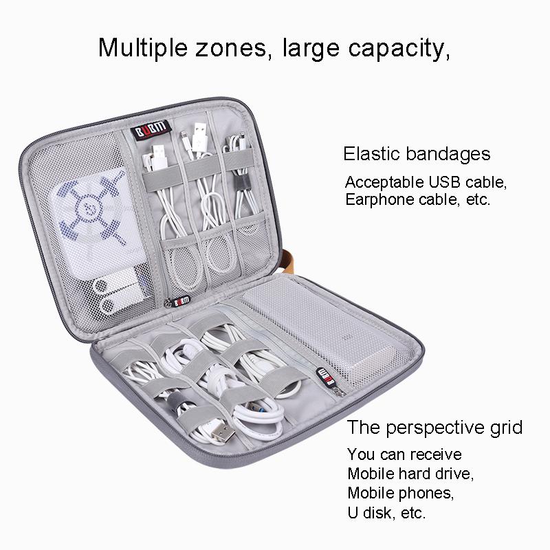 BUBM wholesale Factory Direct Cheap Electronic gadget cable organizer accessories earphone cable bag