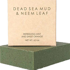 Dead Sea Mud and Neem Bath Soap Base 100% Natural Organic Handmade Bar Soap