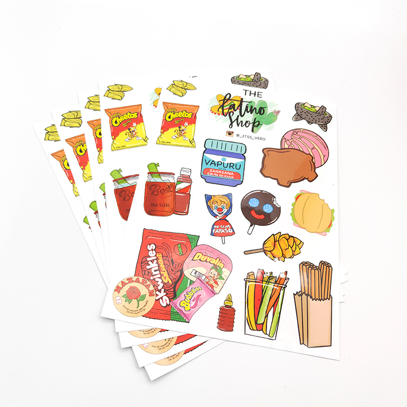 Promotional Eco-friendly Adhesive Customized Paper Kiss Cut Sicker a4 Sheet Printing