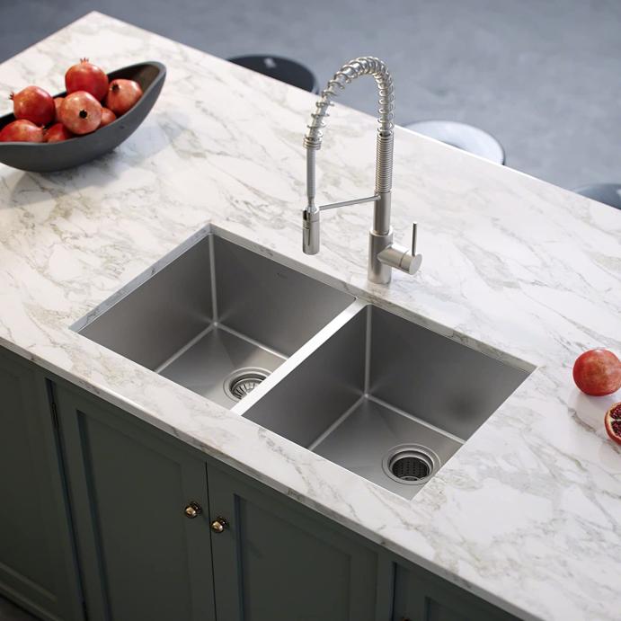 Moderne zubehör unterbau große 304 doppel schüssel becken waschbecken edelstahl küche waschbecken von küche