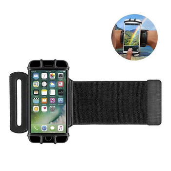 Universal Adjustable Size Armband Smartphone Support Wrist Silicone Cell Phone Holder For Running
