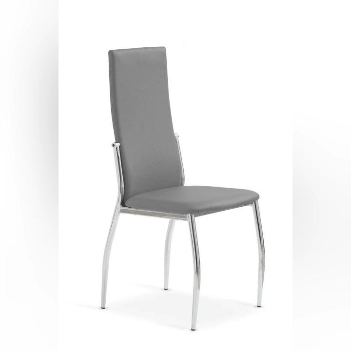Sıcak satış yemek odası mobilyası metal sandalye metal bacak ucuz yüksek geri basit yaratıcı kumaş yemek sandalyesi