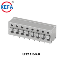 KEFA KF211R-5.0 Waterproof PA66plastic High Quality Connector PCB Spring Terminal Block Connectors Blocks