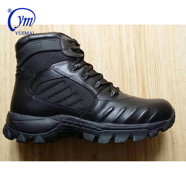 Classical Custom Leather Waterproof Anti-Slip Men Safety Combat Sports Work Desert Police Tactical Army Military Boots