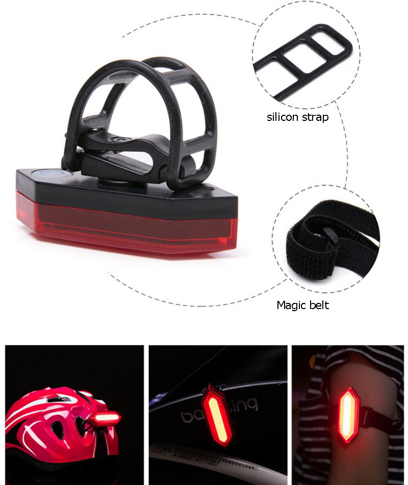 Ultra Brightness Rechargeable Bike Tail Light with Clip for Running, Biking, Jogging, Dogs