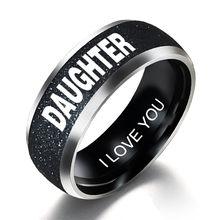 Персонализированные кольца из нержавеющей стали для женщин модные мужские черные кольца с буквами мама украшения для папы детское кольцо п...(Китай)