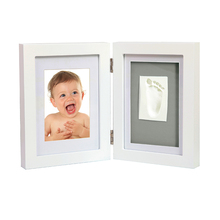 Babyprints deluxe wit muur frame kwaliteit houten <span class=keywords><strong>indruk</strong></span> print kit