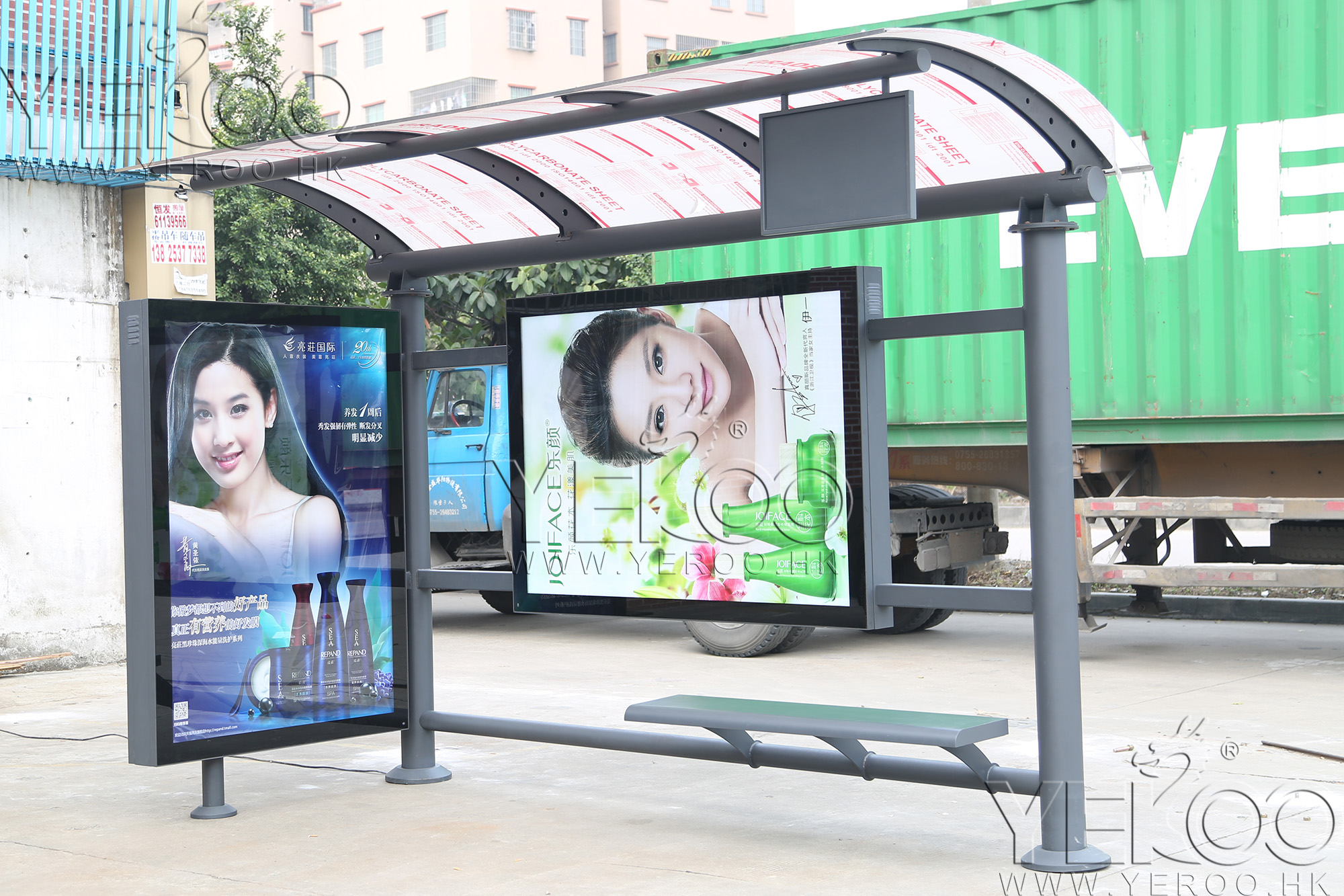 product-YEROO-Customized stainless steel Solar Bus Stop Station-img-1
