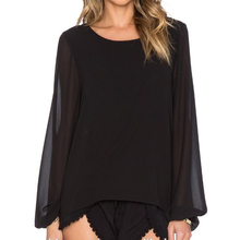 Thiết Kế mới Phụ Nữ Sexy <span class=keywords><strong>Backless</strong></span> Phụ Nữ Chiffon <span class=keywords><strong>Áo</strong></span> Blouse OEM