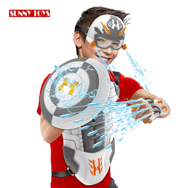 5 in 1 summer outdoor toy PP super soaker backpack water <strong>gun</strong> with water spray mitt/shield zaino pistola acqua
