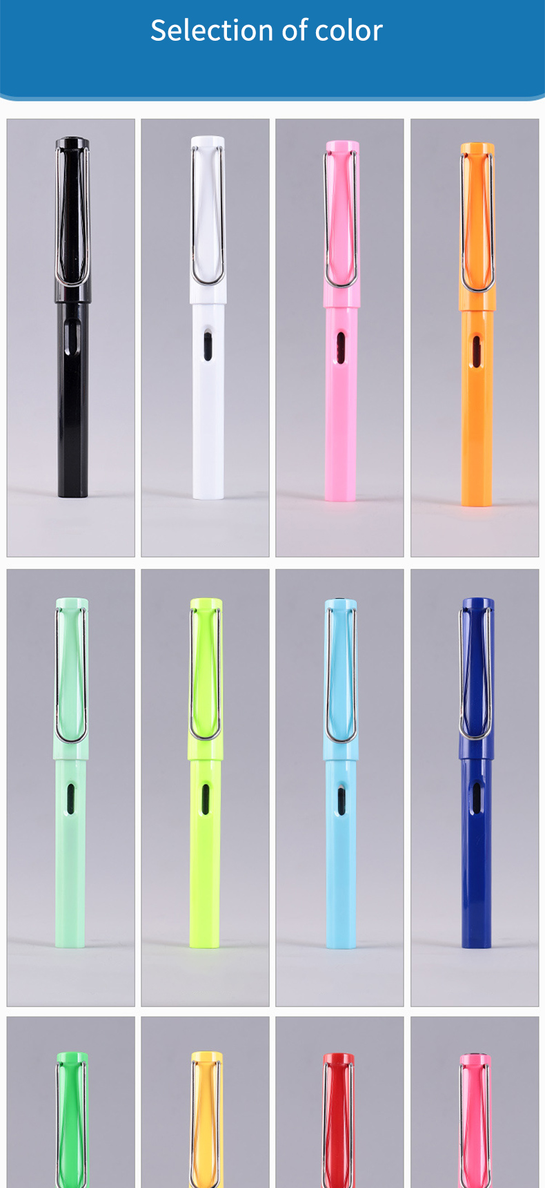 New Design 0.5mm Hot Selling Plastic Gel Pen Best Price Promotional Gel Pen