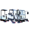 Best quality battery powered double brush Industrial ride on floor sweeper