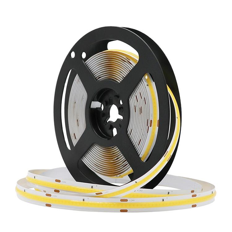 High color efficiency 8w 10w 14w 24w uniform illumination Flexible COB LED Strip Lights