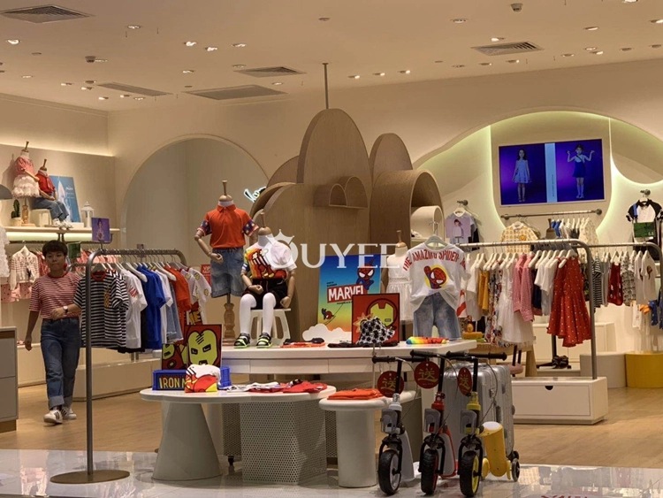 Modern Baby Clothing Store Shelves And Clothes Shop