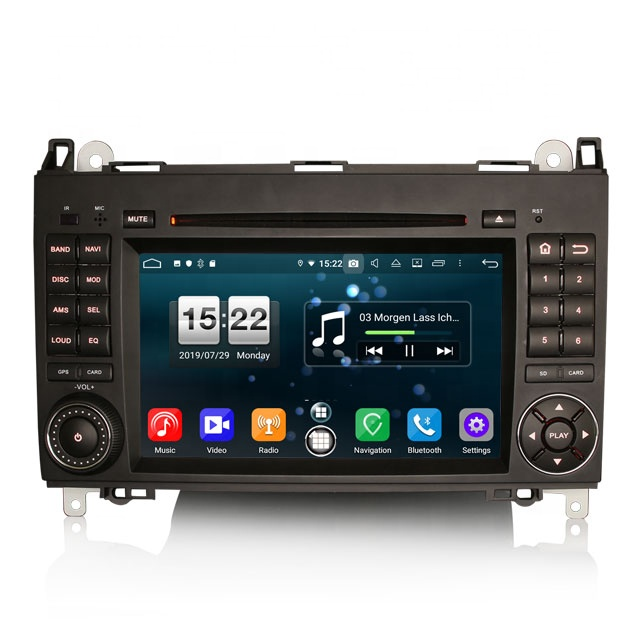 Erisin ES7702B 7 pollici DAB 4G Android 9.0 Car DVD Player GPS per Mercedes A B Classe Sprinter Vito viano Crafter