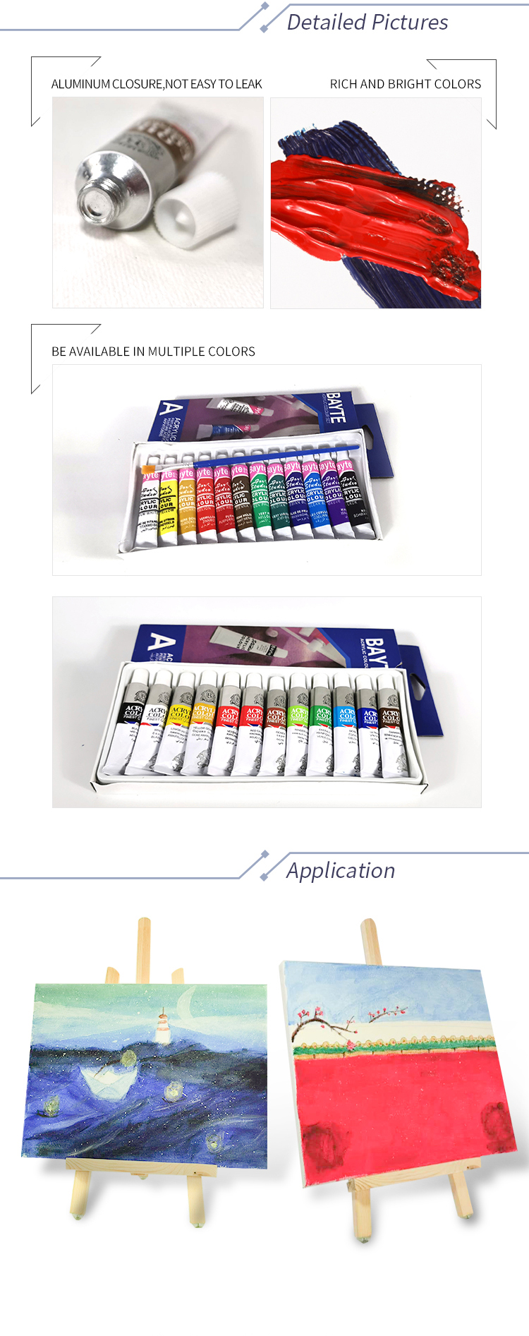 Wholesale Nice Price Acrylic Paint Colors Set, Custom Printed Wholesale Colored Acrylic