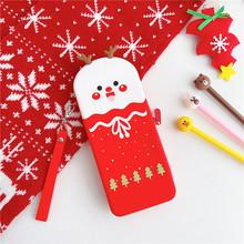 Милый водонепроницаемый чехол-Карандаш для девочек, детский подарок, силиконовый кавайный школьный пенал, корейские канцелярские принадле...(Китай)