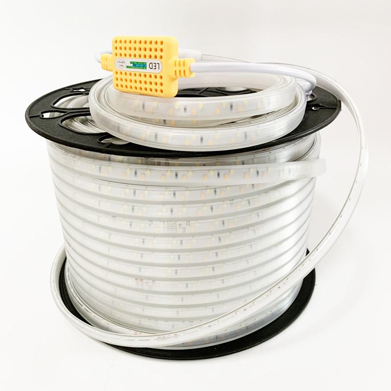 Flex led strip light white and warm white double color flexible led strips 110V 220V 120led/m IP65 waterproof