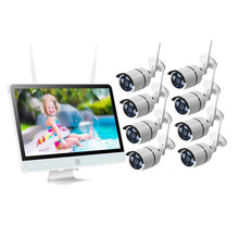 "15,6 ""LCD Monitor 8CH 1080P CCTV Wifi NVR Großhandel Wireless Security Kamera System"