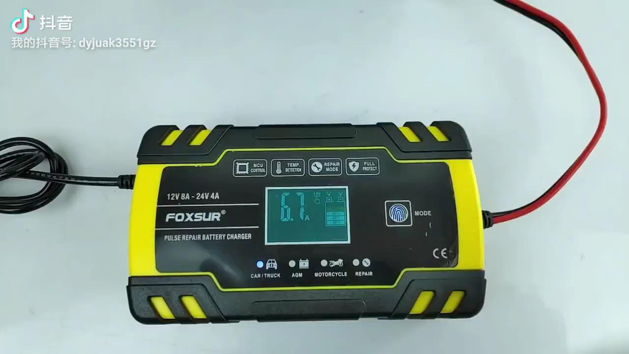 Portable Mini 110V untuk 220V untuk 12V 6A Smart Otomatis Mobil Kendaraan Baterai Charger untuk Mobil