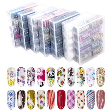 Wholesale10 <span class=keywords><strong>ontwerpen</strong></span> mooie Sterrenhemel Nail Wraps Transfer Folie Ster Design Decals Sticker Kant Stijl Zwart Wit Art Sticker