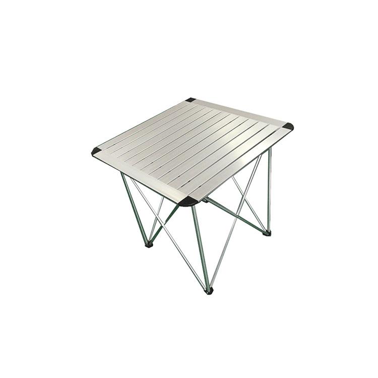 Table Leg Folding and Aluminum Portable Camping Folding Picnic Table for Tourists