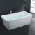 freestanding solid surface bathtub/ acrylic simple bath/ cream freestanding bath tub manufacture