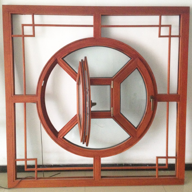 China Big Factory Good Price circular door window build your own transom with beveled glass windows