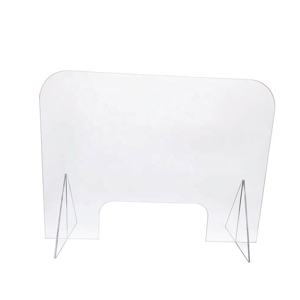 <strong>Acrylic</strong> Counter Protective Sneeze Guard Clear Spit Shield With Stand <strong>Acrylic</strong> Sneeze Shield for Counters