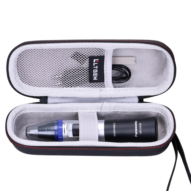 LTGEM Portable Waterproof Travel Eva Nose Hair Clipper Shaver Case for Panasonic Nose Hair Trimmer ER-GN30-K