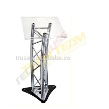 High quality performance stage durable aluminum truss lectern podium