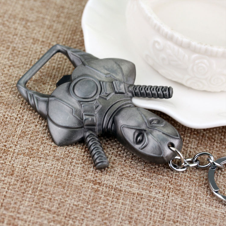 Metal Superhero bottle opener keychain
