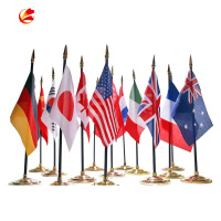 Different countries 100% polyester custom Desk Table National Flag