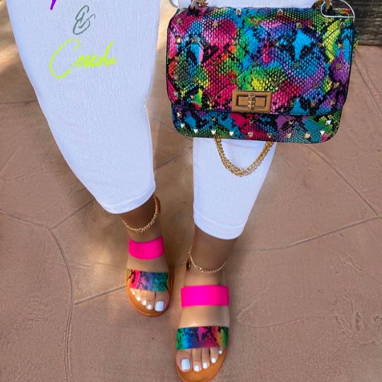 INS/популярные женские сандалии на плоской подошве; Модная женская обувь; Шлепанцы; Сандалии