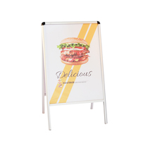 Double Sided A1 Aluminum A Board A Frame Sign For Advertising
