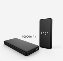 Individuelles logo ultra slim usb handy power 10000 mAh tragbare mobile schnelle lade power bank