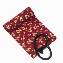 24 Отверстия Kawaii в китайском стиле рулонный чехол-карандаш для кистей, канцелярская сумка, пенал для девочек и мальчиков, школьные принадлеж...(Китай)