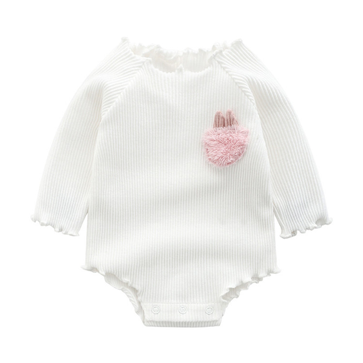 Newborn Baby Bodysuits Infant Baby Girls Bodysuits Soft Cotton Rib Long Sleeve Baby Girls Rompers for 0-24M