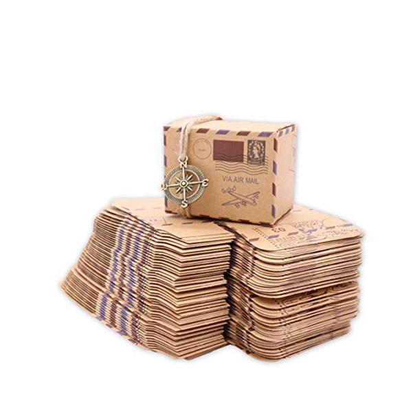 Custom printed recyclable brown craft paper natural soap packaging