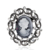 Best seller trendy style with competitive price custom logo Europe style cameo brooch for lady