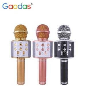 ws-858 usb handheld karaoke microphone for home ktv mini wireless microphone
