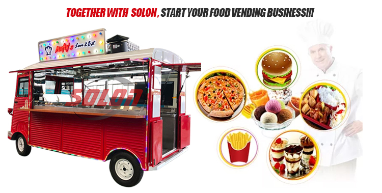 Mobile street food truck food van cart citroen food truck coffee van for sale