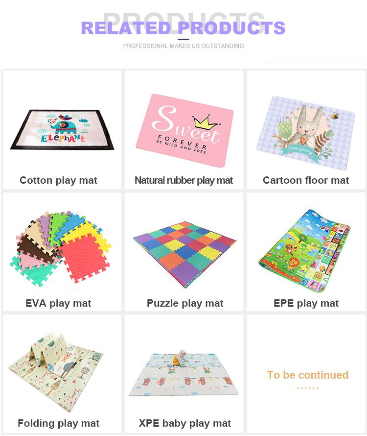 Tapis de jeu promotionnel imperméable eva puzzle protection enfants lavable coloré tapis de jeu de plancher de bébé