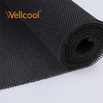 Wholesale tactical body armor application 6mm thickness honeycomb mesh black outdoor material air mesh fabric by the yard