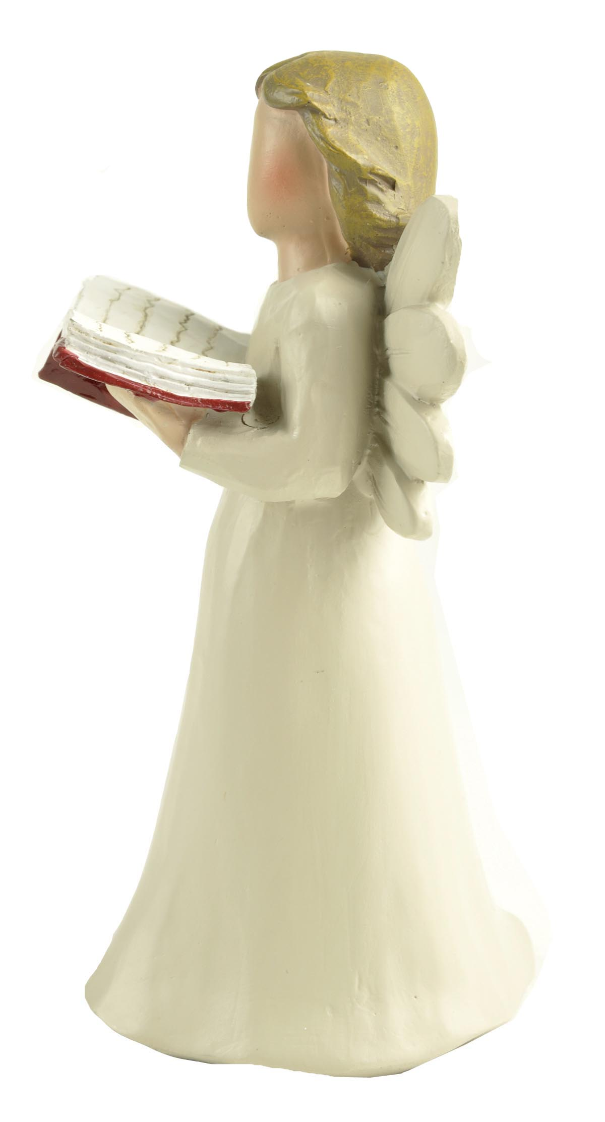 Stock products Polyresin Wood-carved Angel Doll Reading figurine for decoration
