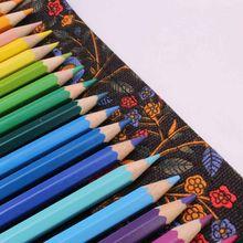 36/48/72 цветной чехол-карандаш с отверстиями, тканевый чехол, косметический чехол для макияжа, чехол-карандаш, сумка для занавесок с рисунком, ...(Китай)
