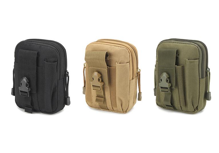 Outdoor Tactical Waist Belt Bag Outdoor EDC Military Holster Waist Wallet Pouch Phone Case Gadget Pocket for iPhone X 8