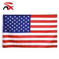 Durabl polyester American 3x5ft US flag with 2pcs grommets
