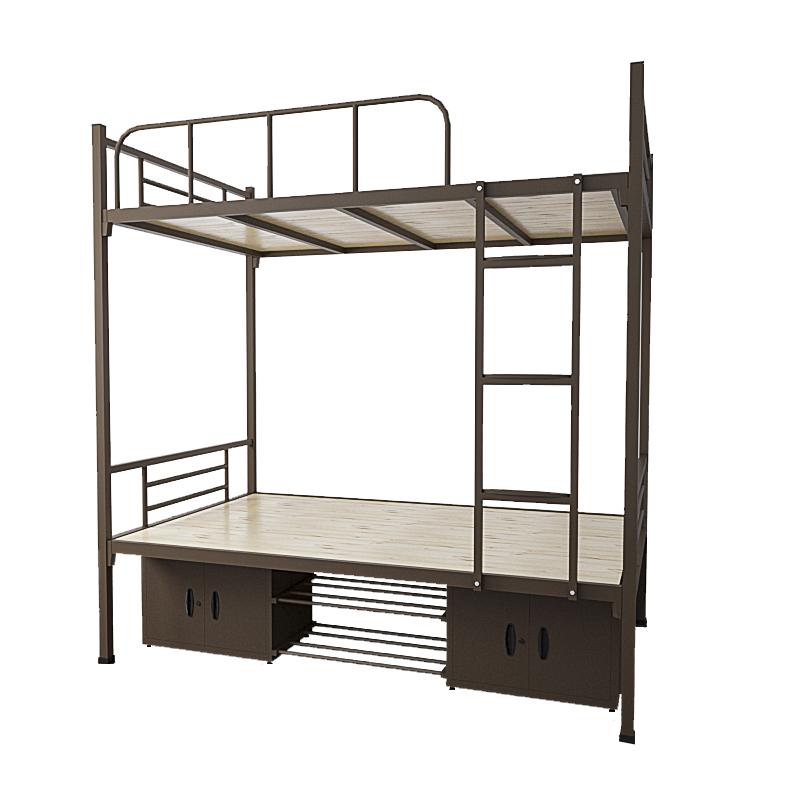 उच्च गुणवत्ता सस्ते चारपाई बेड डबल छात्रों फ्रेम छात्रावास अपार्टमेंट धातु बेड